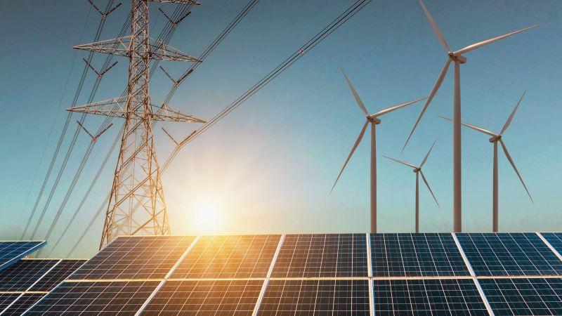 Photovoltaikanlagen und Windenergieanlagen mit Stromnetzen
