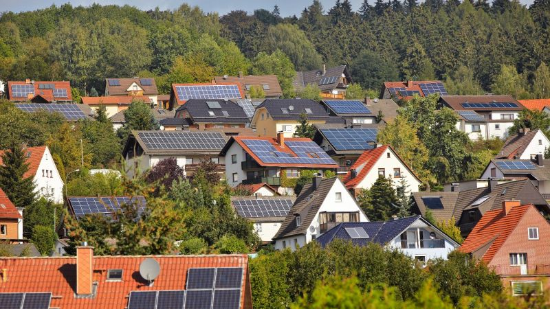 Dächer in Südlage - ideal geeignet für die Versorgung mit Solarenergie.