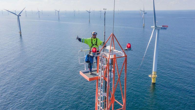 Die FINO2-Forschungsplattform steht in der Ostsee nördlich von Rügen.
