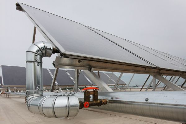 Solarthermie-Kollektor für ein Dach