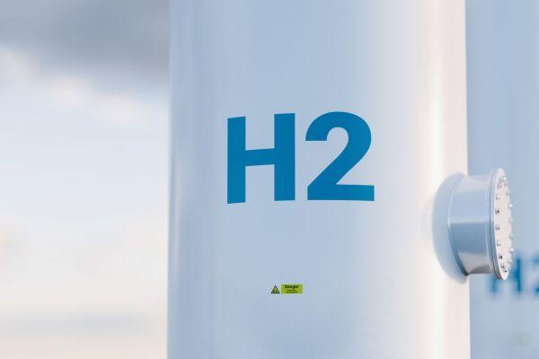 Das Bild zeigt einen Wasserstofftank