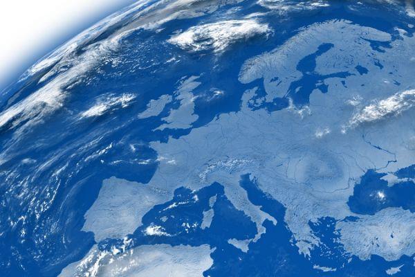Luftaufnahme Europa
