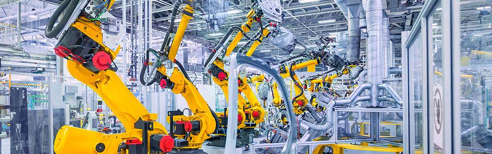 Für die automatisierte Fertigung, hier von Autoteilen, hat die Industrie einen hohen Bedarf an Energie.