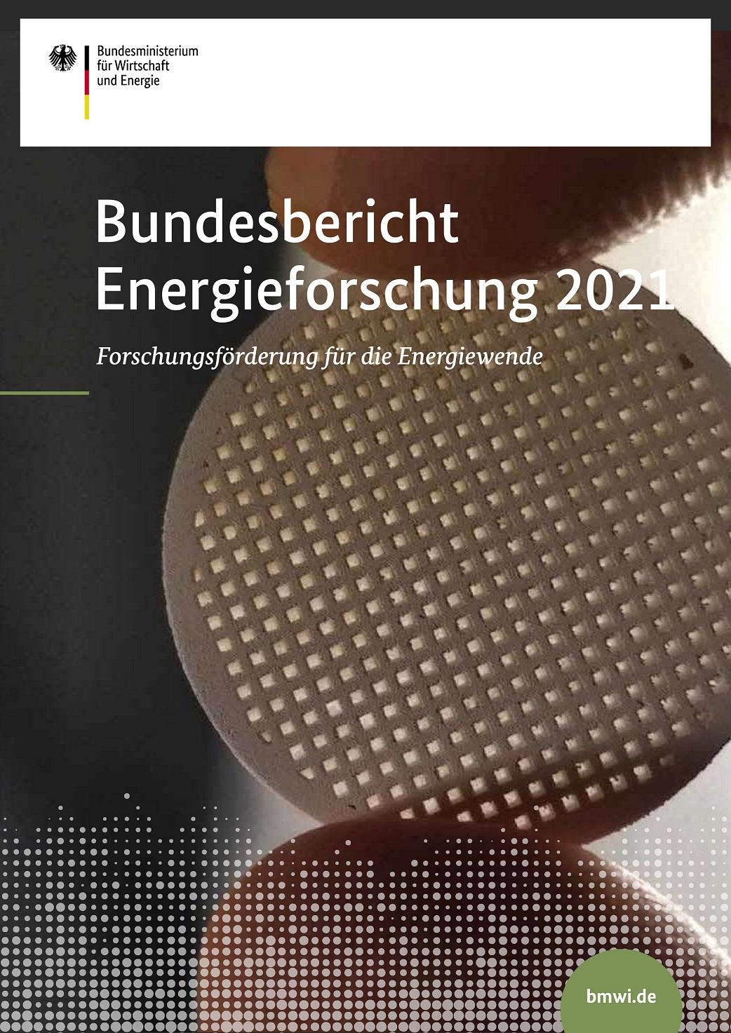 Titelblatt Bundesbericht Energieforschung 2021