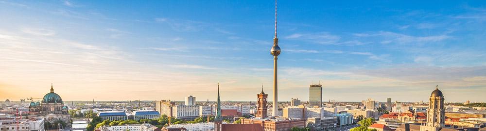 Panoramablick über Berlin mit dem Fernsehturm
